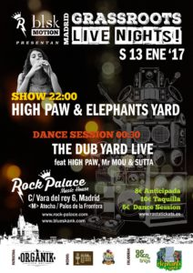High Paw & Elephants Yard GrassRoots Live Nights!
